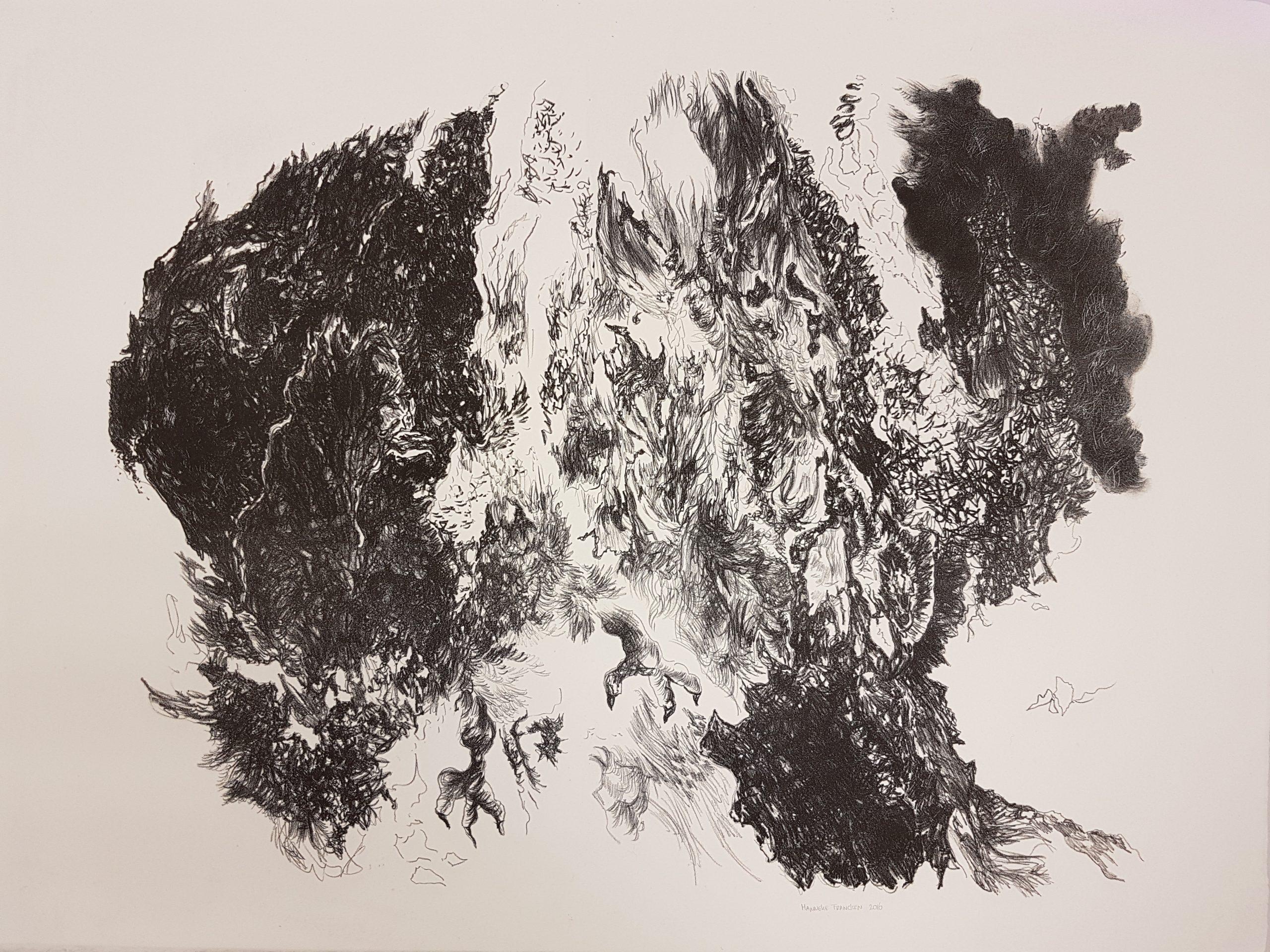 Intertwine, 2016, litho, 57x 76 cm